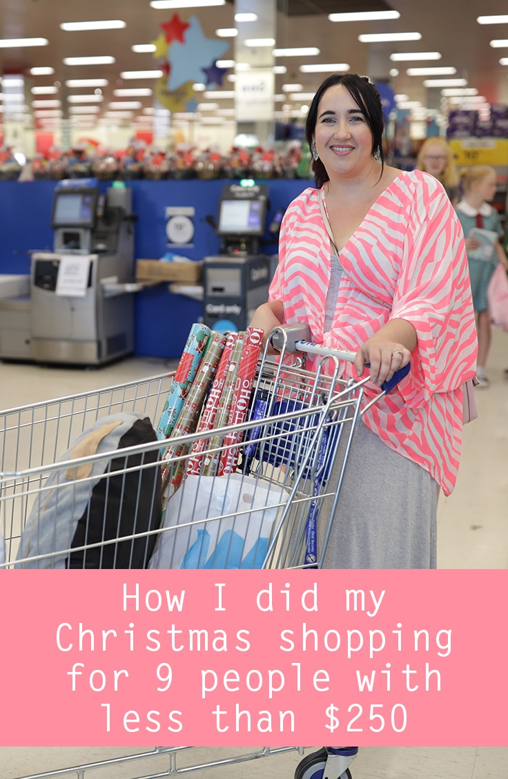 How I did my Christmas shopping for 9 people with less than $250