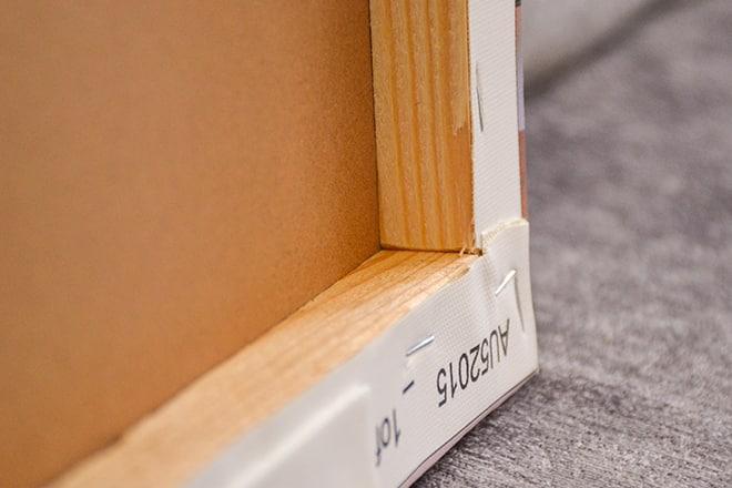 CanvasChamp canvas print corner fold
