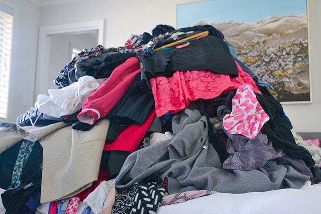 KonMari method closet makeover
