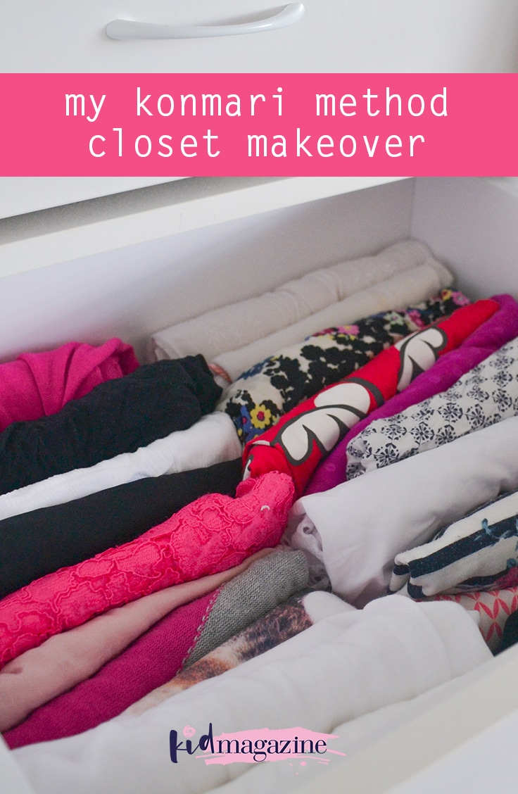 My KonMari method closet makeover