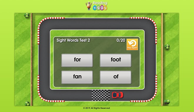 Reading Eggs Games - Driving Test