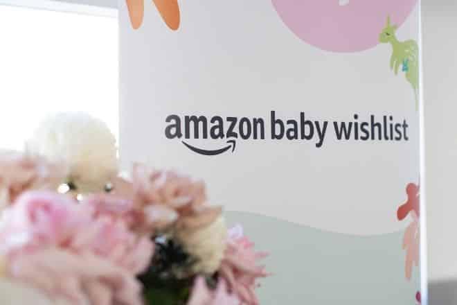Amazon Baby Wishlist sign
