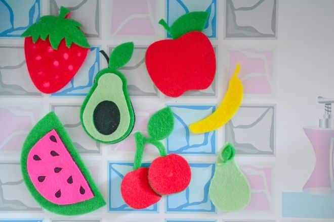 DIY Felt Fruits and Vegetables