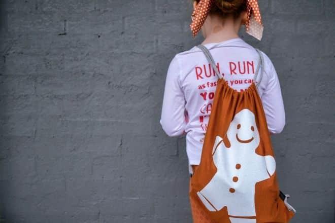 Gingerbread Man Costume Bag