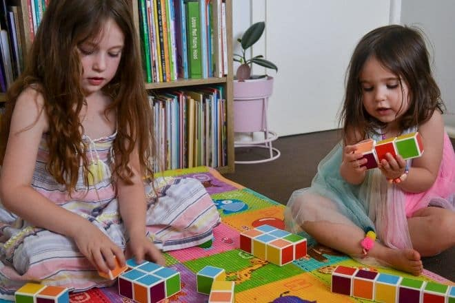 Playing blocks for toddlers